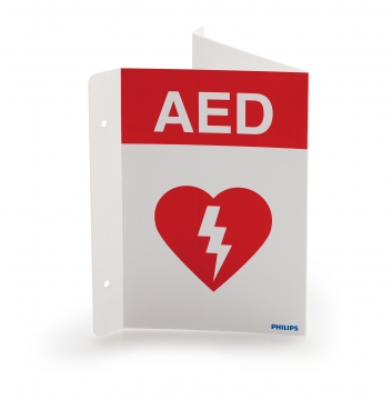 Defibrillator Wall Sign photo
